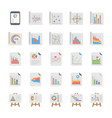 reports and diagrams icons collection vector image