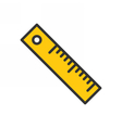 Ruler Outline Icon vector image vector image