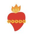 sacred heart cartoon icon image vector image