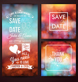 Save the date for personal holiday and thank you vector image vector image