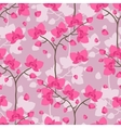 Seamless tropical pattern with stylized orchid vector image