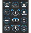 set football badge and logo vector image