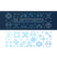 set of blockchain crypto bright outline vector image vector image