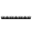Simple Grass Silhouette vector image vector image