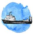 sketch of ship vector image vector image