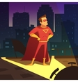 Superman In Night City vector image vector image