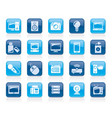 technology and multimedia devices icons vector image vector image