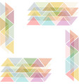 transparent triangles cutaway poster vector image