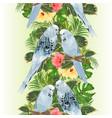 vertical border seamless background birds vector image vector image