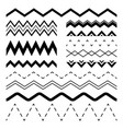 wavy zigzag wiggle jagged waves parallel sinus vector image vector image