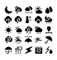 Weather icons 1 vector image vector image
