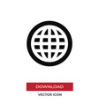 world wide web icon in modern style for web site vector image vector image