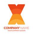 x logo vector image vector image