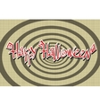 Happy Halloween retro background vector image