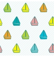 Seamless pattern with colorful boats vector image