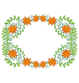A vine plant with flower border vector image vector image