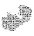 abstract schematic map zambia from black vector image vector image