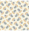 Abstract seamless pattern with plants vector image vector image