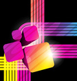 abstract shape background design artwork vector image vector image