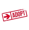 Adopt stamp rubber grunge vector image vector image