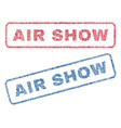 air show textile stamps vector image vector image