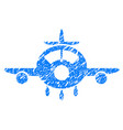 aircraft grunge icon vector image