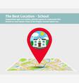best location school vector image vector image