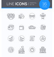 business concepts - modern line design style icons vector image vector image