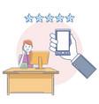 call center customer service vector image vector image