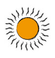 cartoon sun weather day climate icon vector image vector image