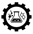 chemical industry sign icon vector image