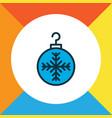 christmas ball icon colored line symbol premium vector image