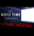 cinema screen view vector image vector image