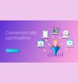 conversion rate optimization banner programming vector image vector image