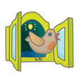 cuckoo bird from the cuckoo clock vector image