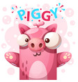 cute pig character - cartoon vector image vector image