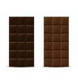 dark and milk chocolate bars vector image vector image