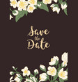 design wedding invitation with floral vector image