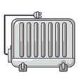 electric battery icon cartoon style vector image vector image