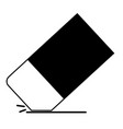 eraser icon on white background eraser icon for vector image