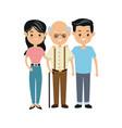 family people mother and father and grandfather vector image vector image