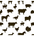 farm animals and poultry background farm vector image