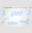 finland russia turkey norway china and japan vector image vector image