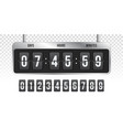 flip countdown clock timer counter vector image vector image