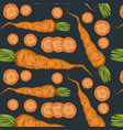 fresh organic vegetables pattern vector image vector image