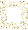 gold stars on a white background iilustration vector image