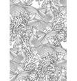 graphic pheasants pattern vector image