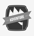 great adventure design vector image vector image