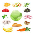 healthy food set vector image vector image