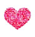 Heart of colored confetti Romantic flat object vector image